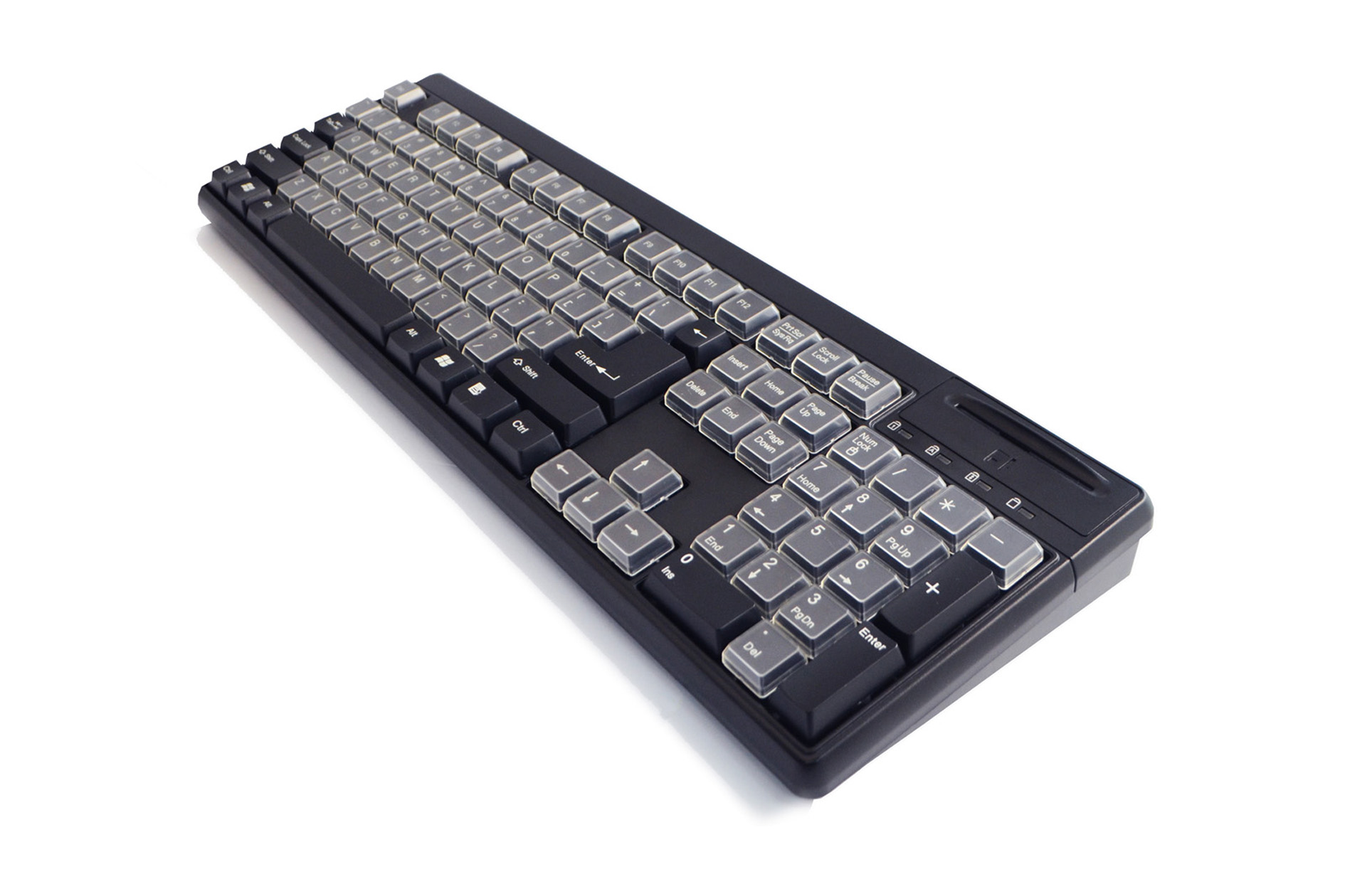 PKB 6880B SCR Programmable USB Keyboard Built In Smart Card Reader With 89 Key Relengeable Keycaps